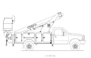 Bucket Truck Schematic - LT-56-NE Versalift