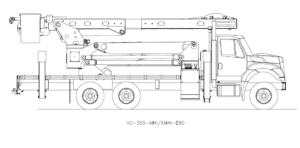 Bucket Truck VO-355-MHI-XMHI-E80