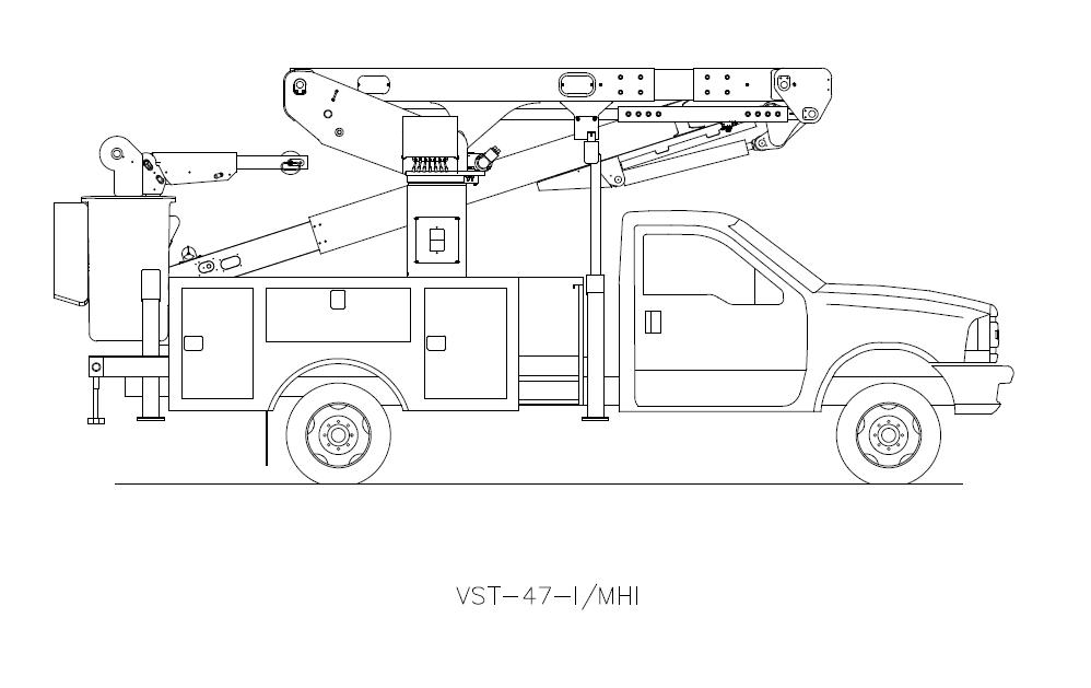 Bucket Truck VST-47-I-MHI