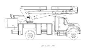 Bucket Truck VST-6300-I-MHI